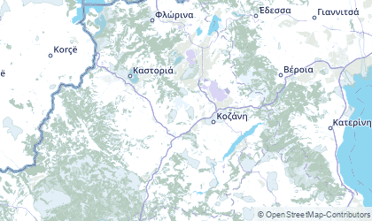 Mapa de West Macedonia